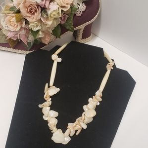 Vintage Shell & Bead Necklace